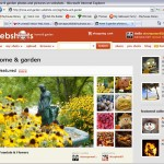 my picture featured in the home and garden section of Webshots.com